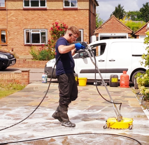 Surface cleaner in Use