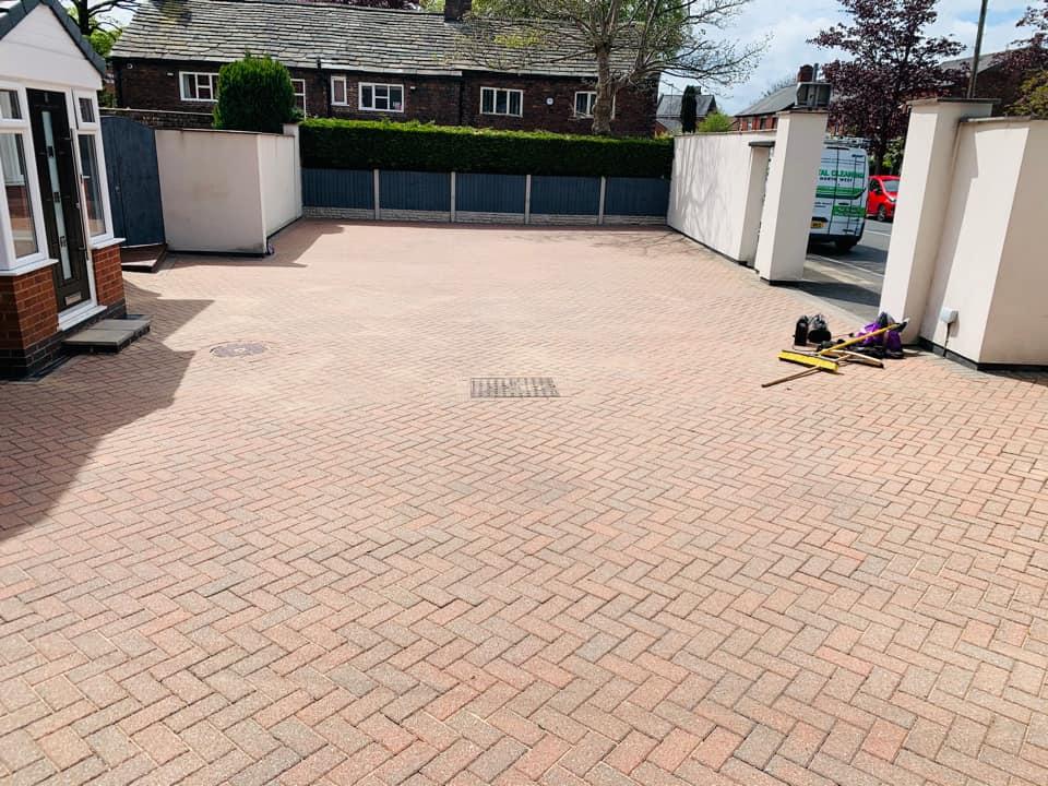 Re-sanded block paving