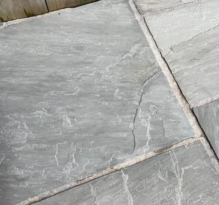 Indian Sandstone after rust removal